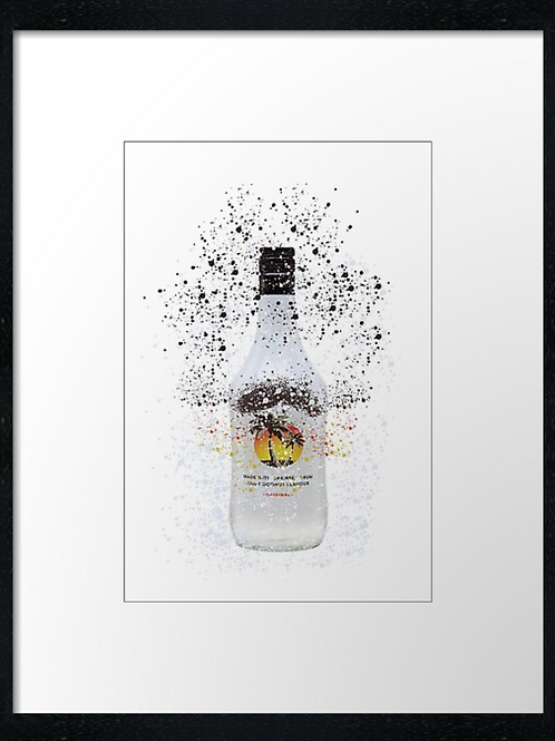 Malibu Splatter,  example shown 40cm x 30cm framed print