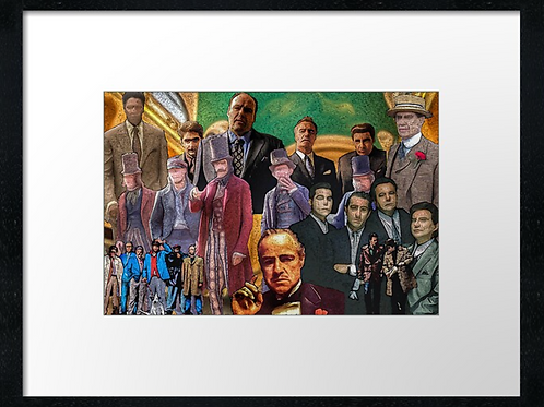 Movie Bad Guys. Print or canvas print (Example shown 40cm x 30cm framed print)