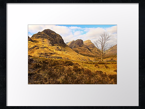 Glencoe mountains  40cm x 30cm framed print or canvas pri