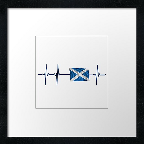 "Scottish heart Print or canvas print Example shown is 10"" Framed prin"