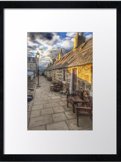Fittie, Aberdeen 30cm x 40cm framed print, canvas print or A4, A3 m
