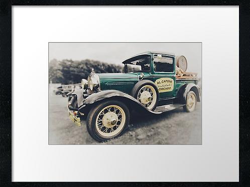 Al Capone design car print or canvas print (example shown 40cm x 30cm framed