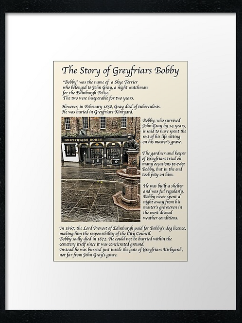 The Story of Greyfriars Bobby. Print or canvas print