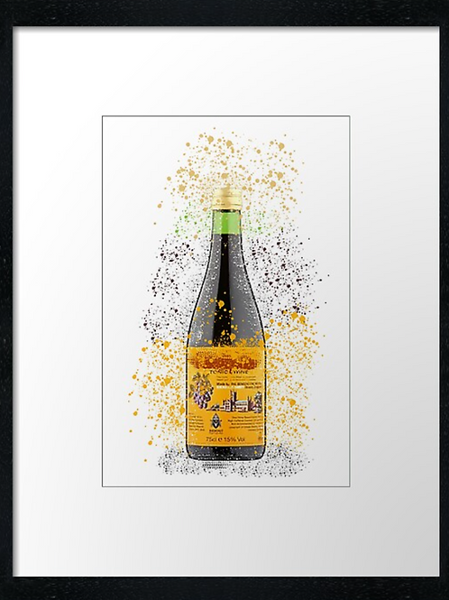 Buckfast Splatter,  example shown 40cm x 30cm framed print