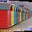 Thumbnail: Coloured beach huts (1) 40cm x 30cm framed print or canvas print