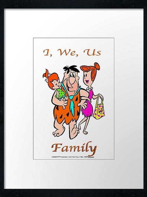 Flintstones Love (4),  example shown 40cm x 30cm framed print