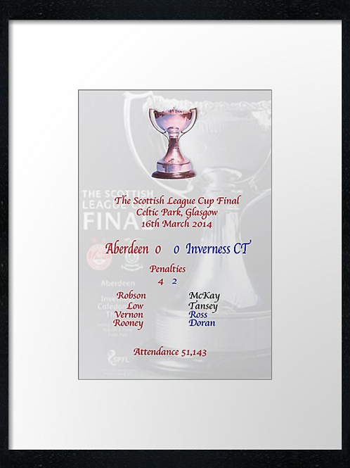 Aberdeen FC, Cup final 2014 (2) print or canvas print