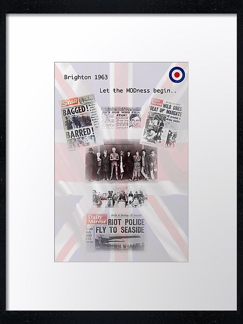 Mods (5) 40cm x 30cm framed print, canvas print or A4, A3 mounted print