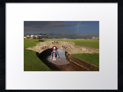 Golf Nightmare 40cm x 30cm framed print or canvas print
