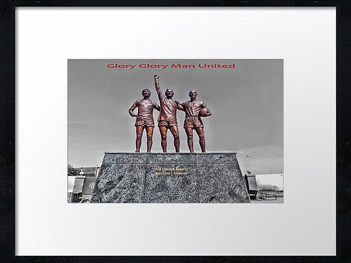 Manchester United (1) 40cm x 30cm framed print or canvas print