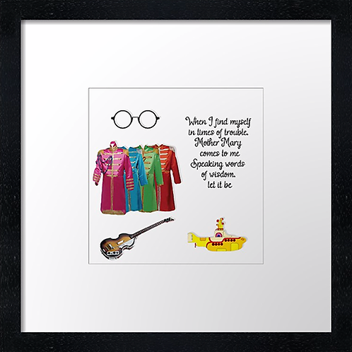 """Let it be Print or canvas print Example shown is 10"""" Framed print £21.50"""