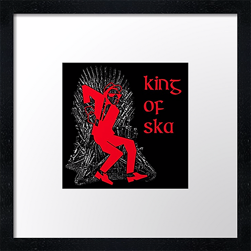 """King of Ska (2) Print or canvas print Example shown is 10"""" Framed print £21.50"""