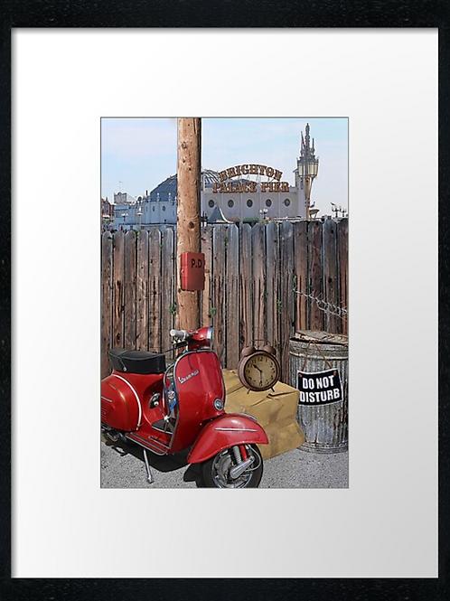 """TC"" Top Mod at Brighton. Example shown  40cm x 30cm framed print"