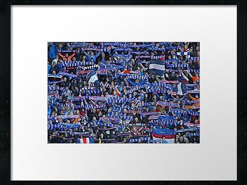 Rangers  (20) 40cm x 30cm framed print or canvas print