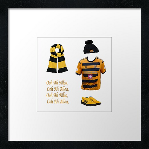 "Alloa Athletic fc match ready (Example shown 10"" Framed print £21.50)"