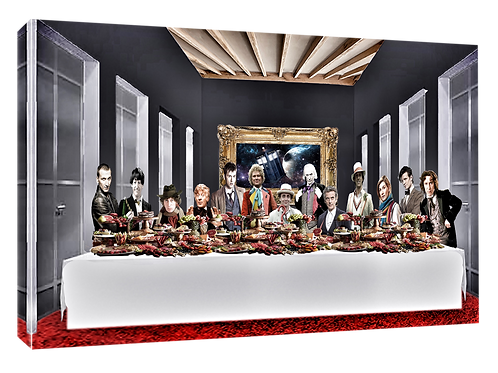 Dr Who Last supper (Dark mood) print or canvas print (example shown 40cm x 30
