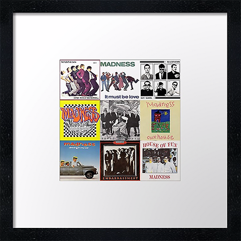 """Madness singles Print or canvas print Example shown is 10"""" Framed print £21.50"""