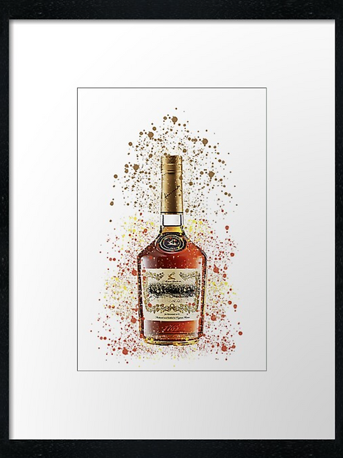 Brandy Splatter,  example shown 40cm x 30cm framed print