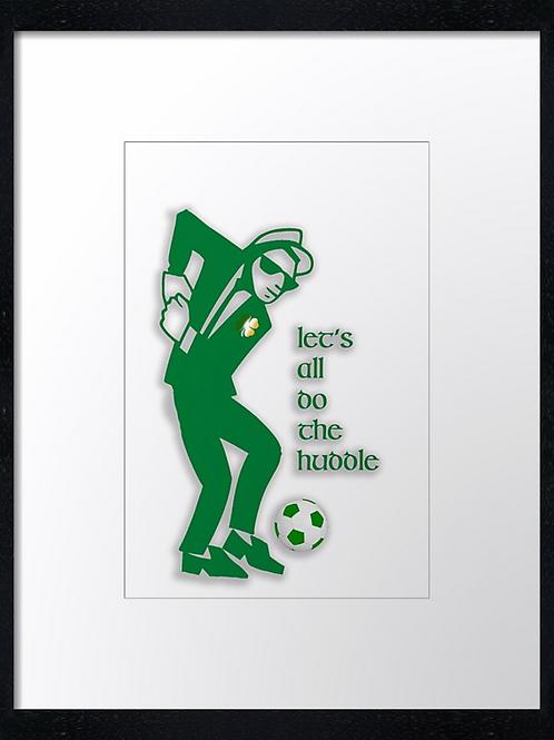 Celtic, Huddle dance (1) 40cm x 30cm framed print, canvas print or A4, A3 moun