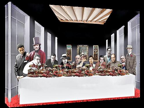 Mafia supper (6) print or canvas print (example shown 40cm x 30cm framed pri