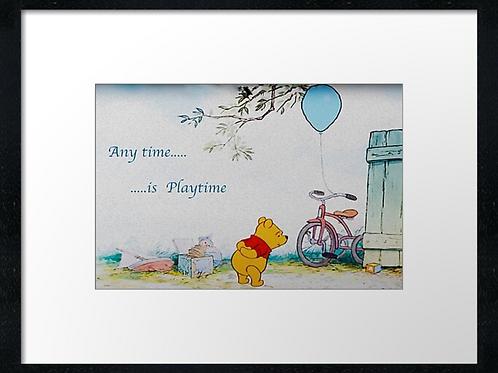 Winnie-the-Pooh (10) example shown 40cm x 30cm framed print
