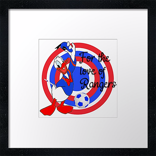 """Rangers (10)  Example shown 10"""" Framed print £21.50)"""