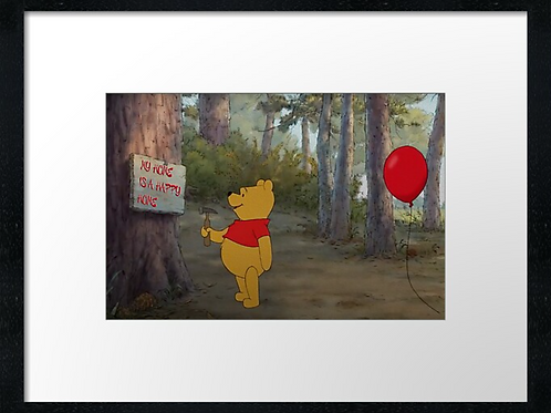 Winnie-the-Pooh (9) example shown 40cm x 30cm framed print