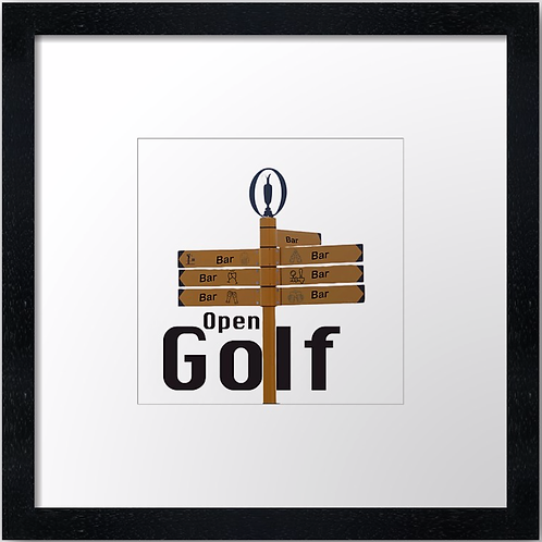 "The 19th Hole (Square) (Example shown 10"" Framed print £21.50)"