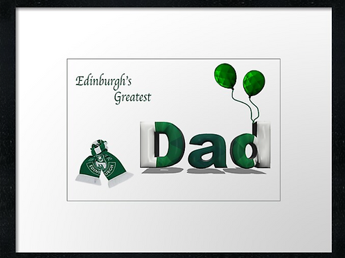 Hibs Dad (1)  framed print or canvas print