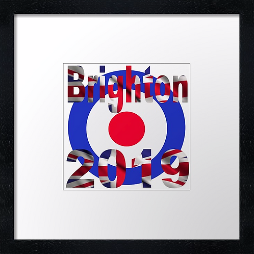 "Brighton 2019 Print or canvas print. Example shown 10"" framed print £21.50"