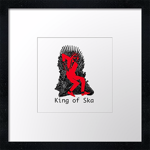 """King of Ska (1) Print or canvas print Example shown is 10"""" Framed print £21.50"""