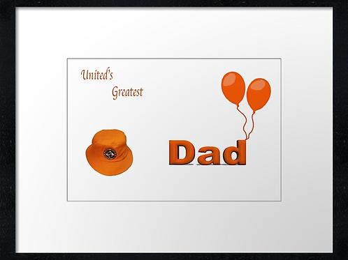 Dundee United Dad (2)  40cm x 30cm framed print or canvas pri