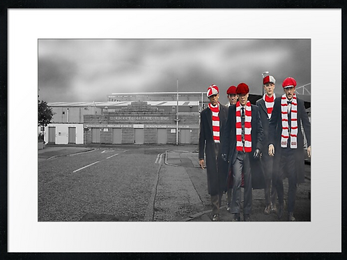 Aberdeen Matchday Peaky Blinders. Example shown 40cm x 3