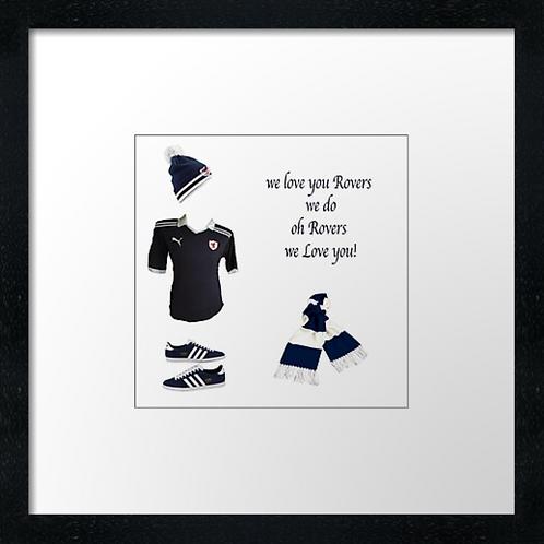 """Raith Rovers fc match ready (Example shown 10"""" Framed print £21.50"""
