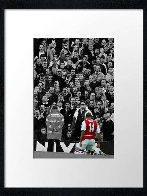 Thierry Henry 40cm x 30cm framed print or canvas print