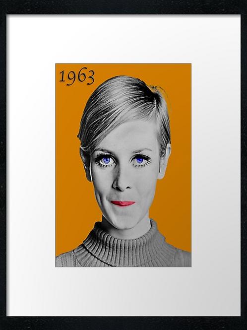 Twiggy 1963,  example shown 40cm x 30cm framed print