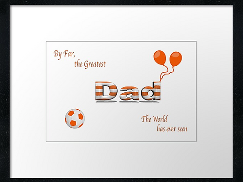 Dundee United Dad (3)  40cm x 30cm framed print or canvas pri