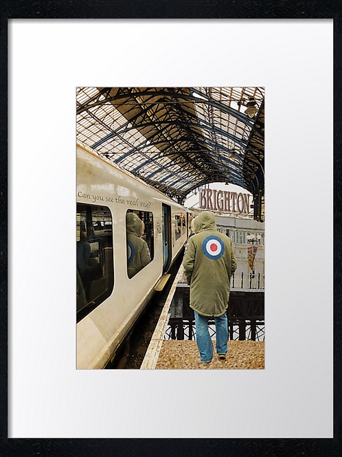 Brighton station 40cm x 30cm framed print, canvas print or A4, A3 moun