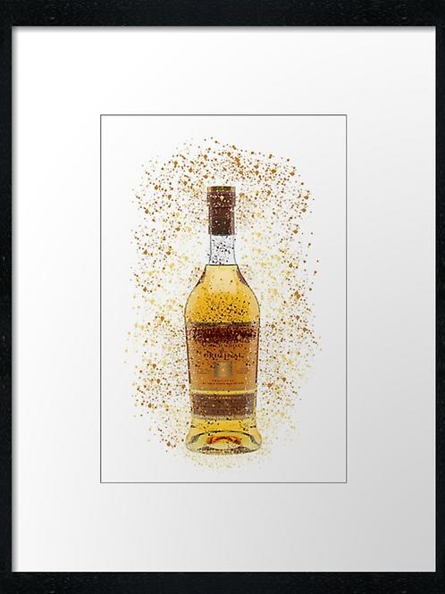 Glenmorangie Splatter,  example shown 40cm x 30cm framed print