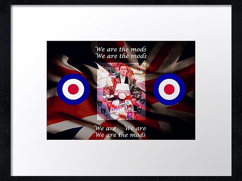 mods (1) 40cm x 30cm framed print, canvas print or A4, A3 moun