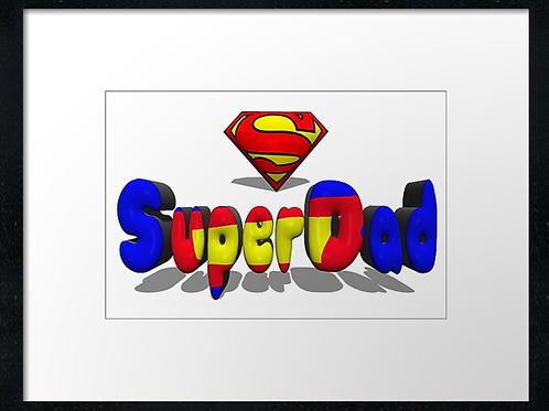 Superdad (1) example shown 40cm x 30cm framed print