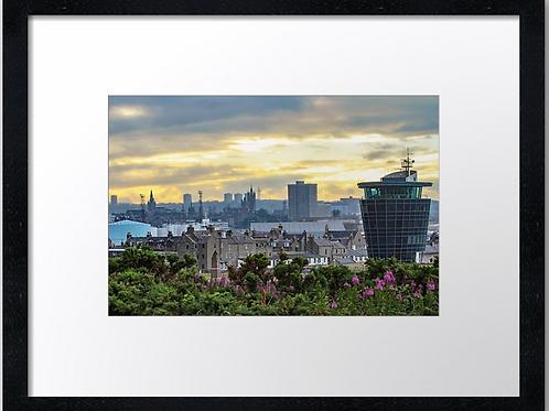 Aberdeen Skyline (1) 40cm x 30cm framed print or canvas pri