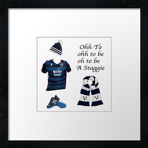 "Ross County fc match ready (Example shown 10"" Framed print £21.50)"