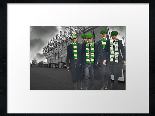 Celtic match day  example 40cm x 30cm framed print, canvas print or