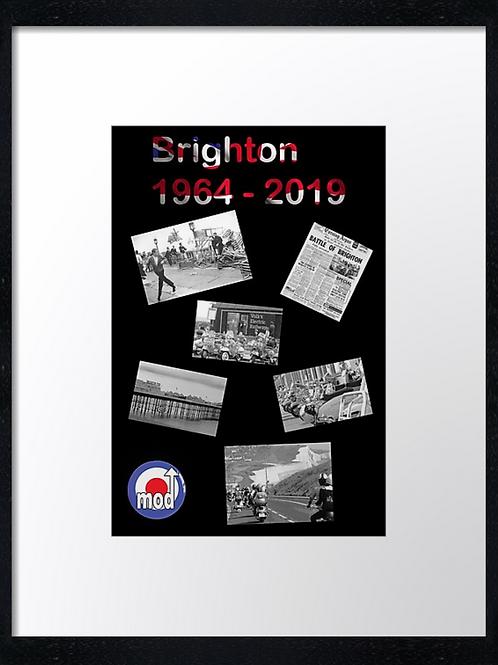 Brighton 1964-2019 40cm x 30cm framed print, canvas print or A4, A3 m
