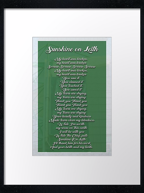 Hibs 2 40cm x 30cm framed print or canvas print