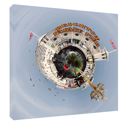 """Brighton Pier, Small World Effect Print or canvas print Example shown is 10"""" Fra"""