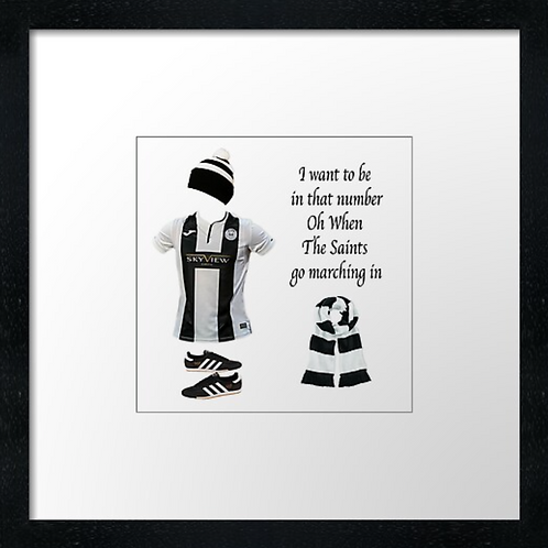 "St Mirren fc match ready (Example shown 10"" Framed print £21.50"