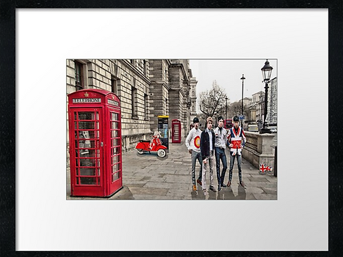 London (19) print or canvas print (example shown 40cm x 30cm framed print)