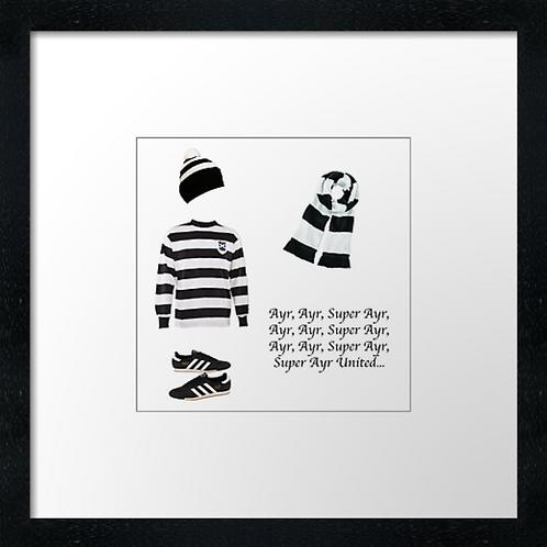"Ayr United fc match ready (Example shown 10"" Framed print £21.50)"